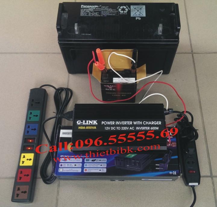 Bộ kích điện và sạc ắc quy tự động G-LINK HDA-850VA 600W sử dụng cho hệ thống camera an ninh