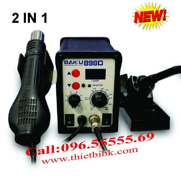 Máy khò nhiệt và hàn thiếc BAKU 898D dùng cho thợ sửa điện thoại di động