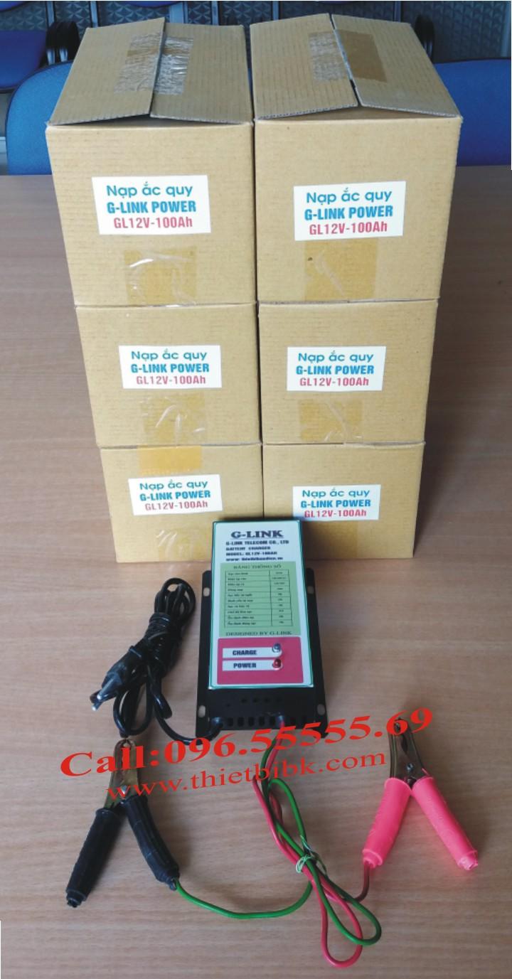 Bộ Sạc ắc quy tự động G-LINK 12V-100Ah dùng cho gia đình, cửa hàng