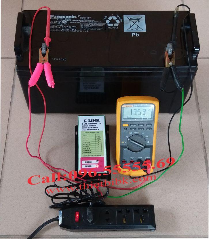 Bộ Sạc ắc quy tự động G-LINK 12V-100Ah sạc ắc quy ô tô, xe máy