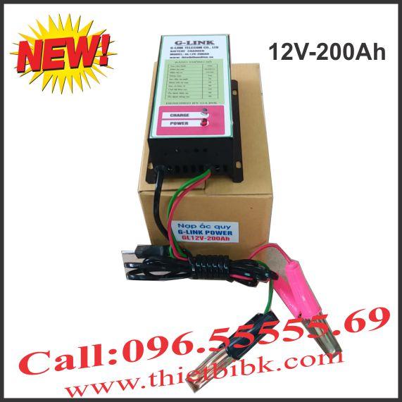 Bộ Sạc ắc quy tự động G-LINK 12V-200Ah