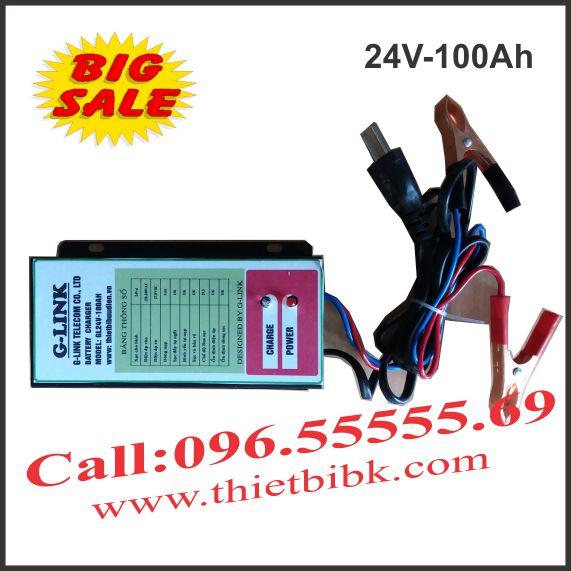 Bộ Sạc ắc quy tự động G-LINK 24V-100Ah