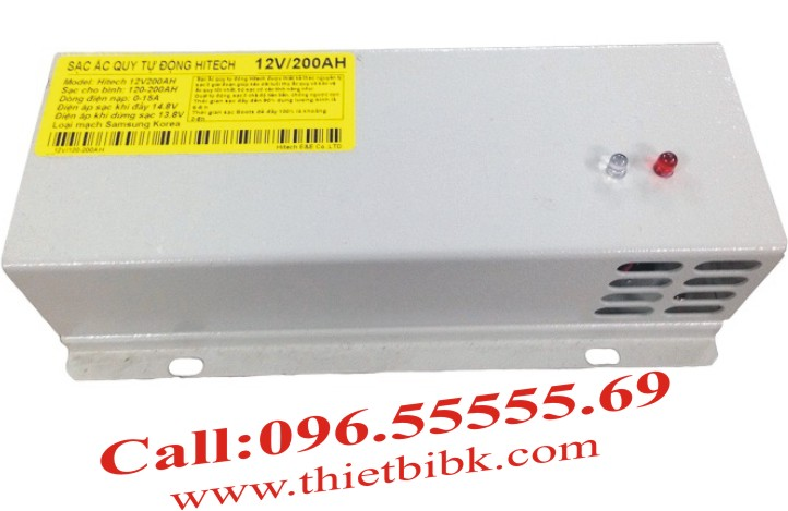 Bộ Sạc ắc quy tự động HITECH POWER V 12V-200Ah sạc ắc quy máy phát điện