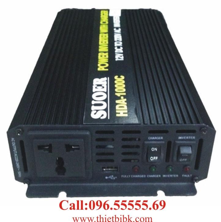 Bộ kích điện và sạc ắc quy tự động SUOER HDA-1000C 750W dự phòng nguồn tự động