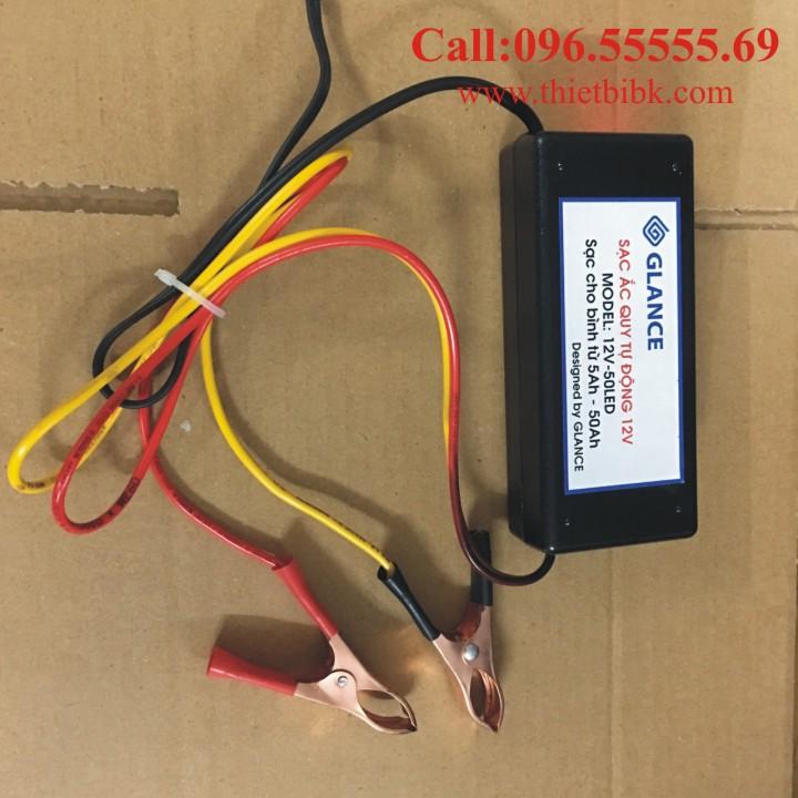 Bộ Sạc ắc quy tự động GLANCE 12V 50Ah LED sạc ắc quy máy phát điện