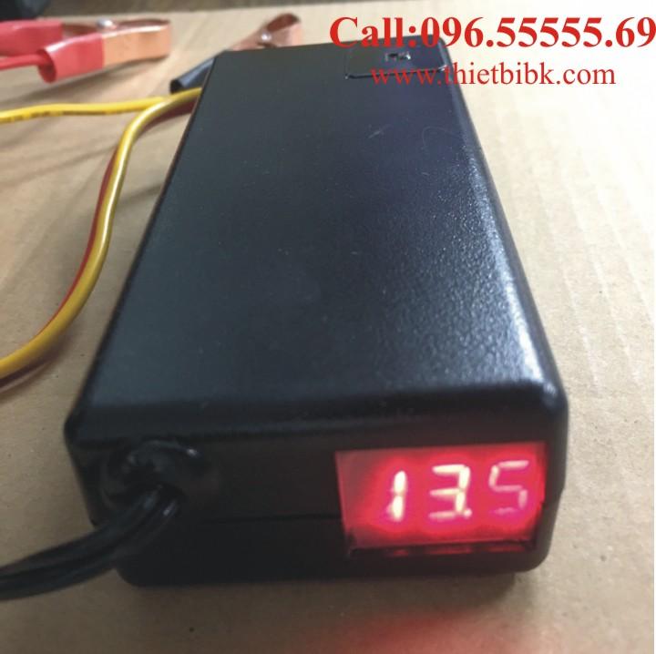 Bộ Sạc ắc quy tự động GLANCE 12V 50Ah LED sạc ắc quy xe máy