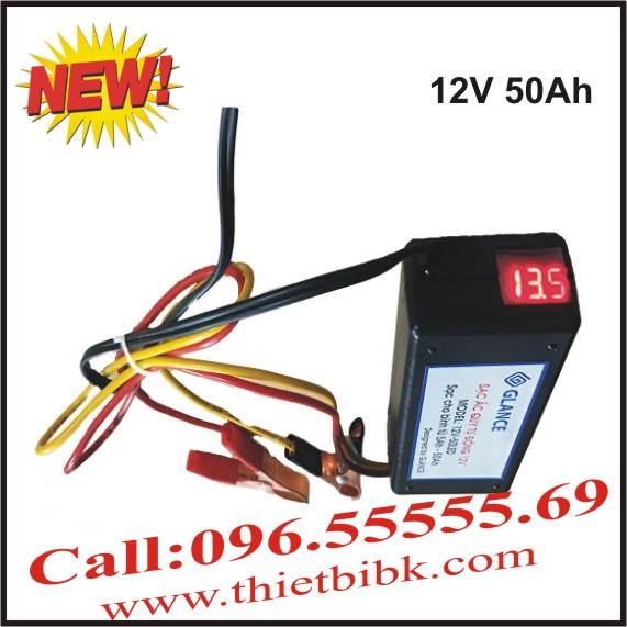 Bộ Sạc ắc quy tự động GLANCE 12V 50Ah LED