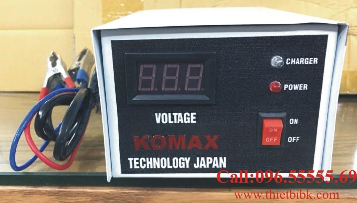 Bộ Sạc ắc quy tự động KOMAX KM 12V 200Ah công nghệ cơ điện tử sạc nhanh