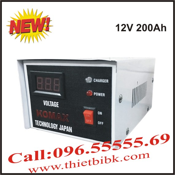 Bộ Sạc ắc quy tự động KOMAX KM 12V 200Ah