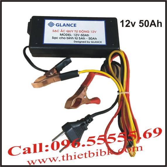 Bộ Sạc ắc quy tự động nhỏ gọn GLANCE 12V 50Ah