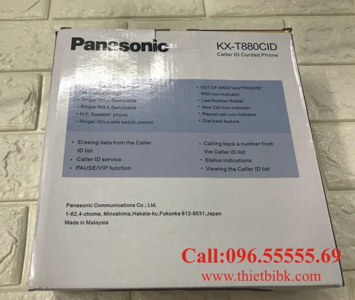 Điện thoại để bàn Panasonic KX-T880CID dùng cho gia đình cửa hàng