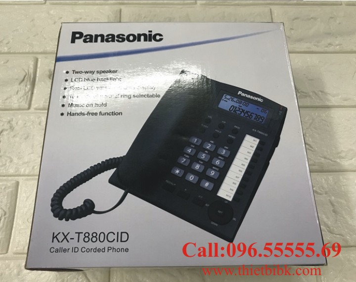 Điện thoại để bàn Panasonic KX-T880CID hiển thị số gọi đến gọi đi CID