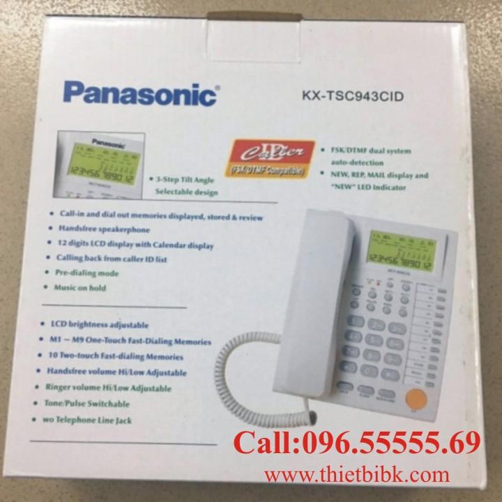 Điện thoại để bàn Panasonic KX-TSC943CID có Jack cắm tai nghe 3.5mm