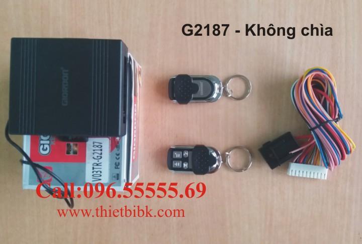 Bộ điều khiển khóa cửa ô tô Giordon 2187 chỉ có nút bấm, không có phôi chìa khóa
