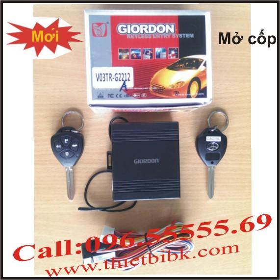 Bộ điều khiển khóa cửa ô tô Giordon 2212A có nút mở cốp