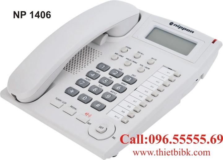 Điện thoại để bàn NIPPON NP 1406 dùng cho gia đình
