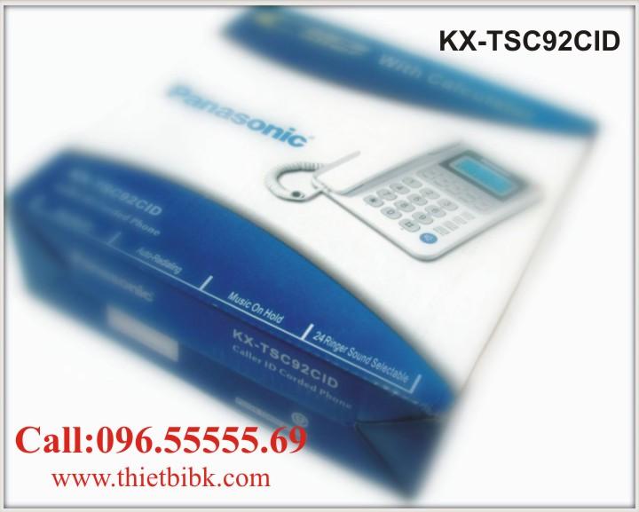 Điện thoại để bàn Panasonic KX-TSC92CID hiển thị số gọi đến