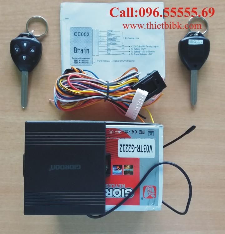 Trọn Bộ điều khiển khóa cửa ô tô Giordon 2212 Car Remote Control Central Door Lock