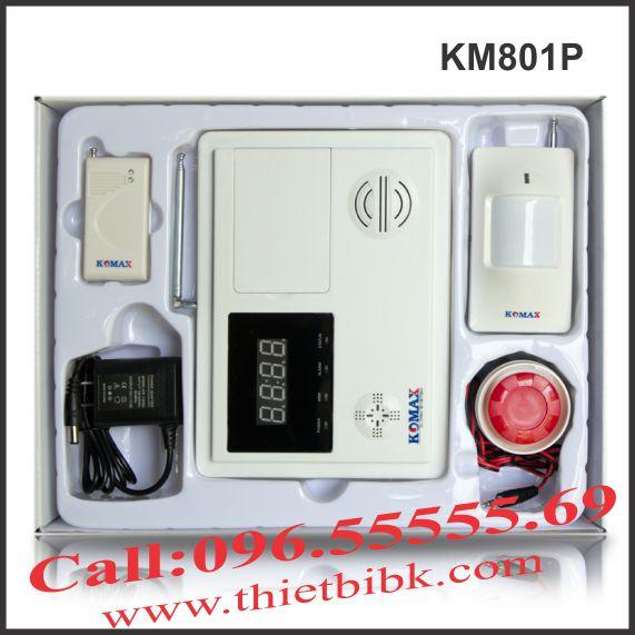 Bộ báo động trung tâm không dây Komax KM801P