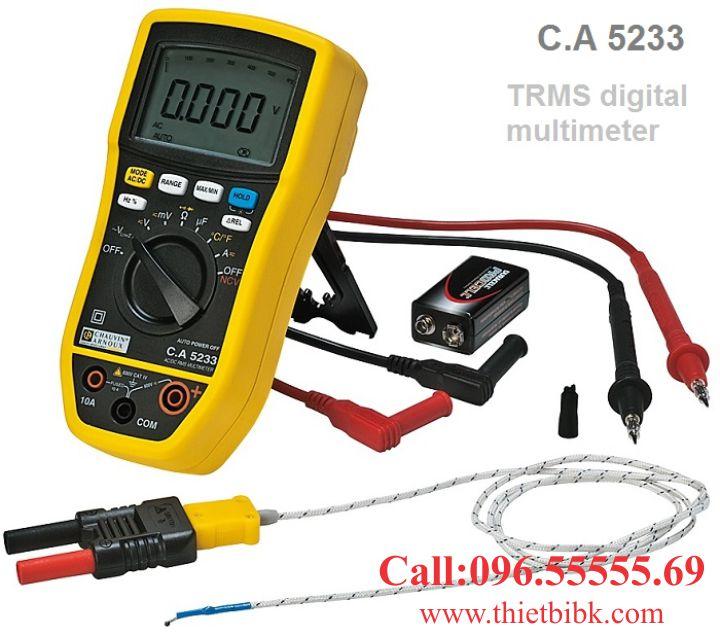 Đồng hồ vạn năng hiển thị số Chauvin Arnoux CA 5233 dùng cho thợ sửa chữa điện tử