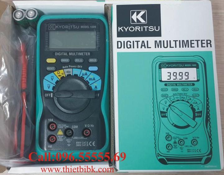 Đồng hồ vạn năng hiển thị số KYORITSU 1009 600V 10A dùng cho sửa chữa điện tử