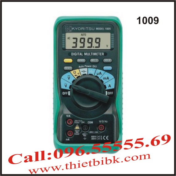 Đồng hồ vạn năng hiển thị số KYORITSU 1009 600V 10A