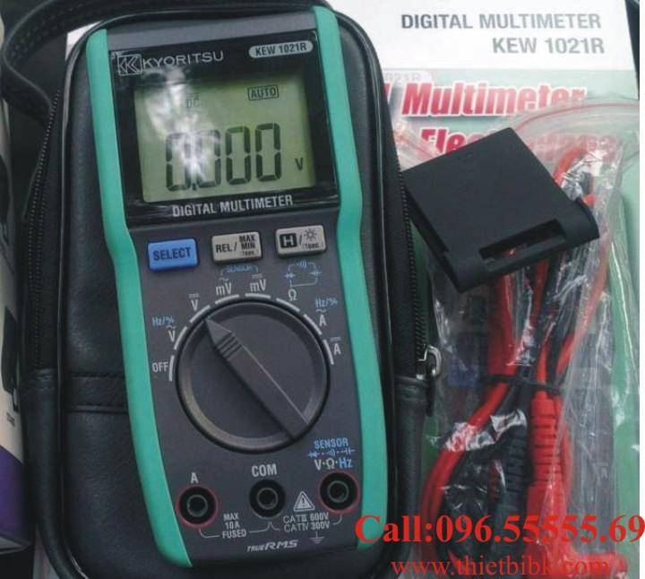 Đồng hồ vạn năng hiển thị số Kyoritsu 1021R 6000V 10A dùng cho sửa chữa điện tử