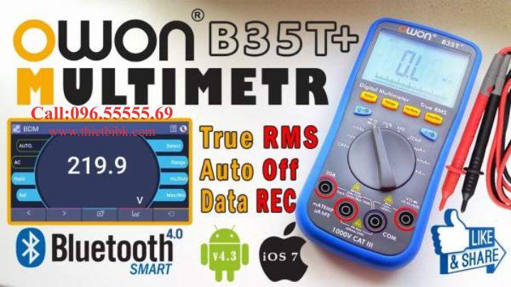 Đồng hồ vạn năng hiển thị số Owon B35T plus Bluetooth hiển thị kết quả trên smart phone