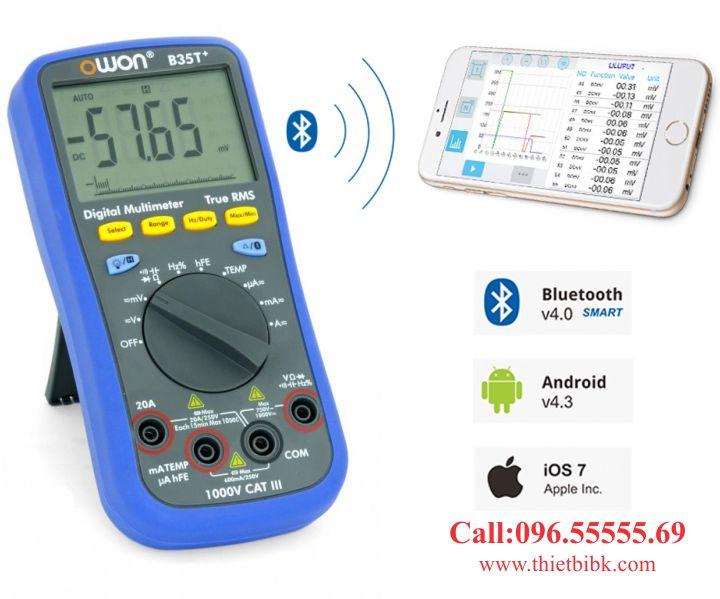 Đồng hồ vạn năng hiển thị số Owon B35T plus Bluetooth xử lý dữ liệu trên smart phone
