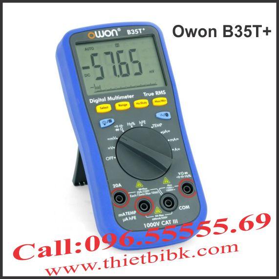 Đồng hồ vạn năng hiển thị số Owon B35T plus Bluetooth