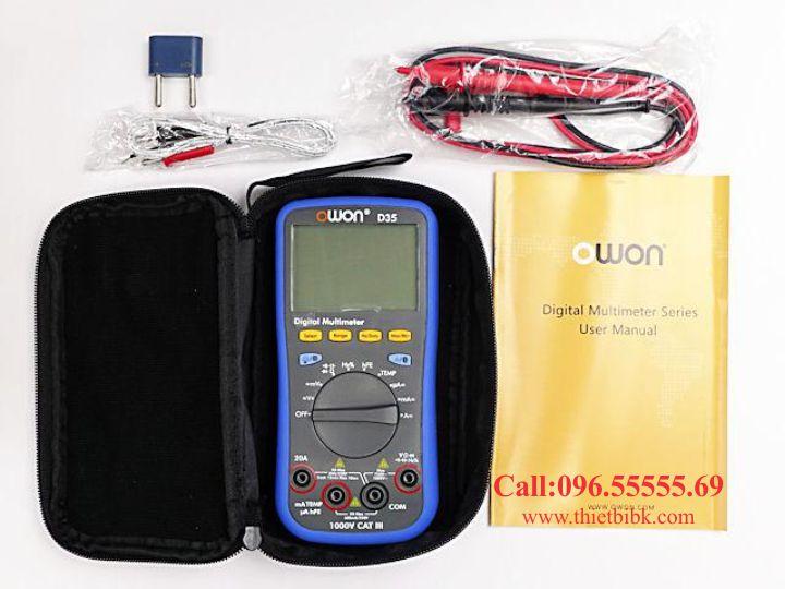 Đồng hồ vạn năng hiển thị số Owon D35 1000V 20A dùng cho thợ sửa chữa máy tính