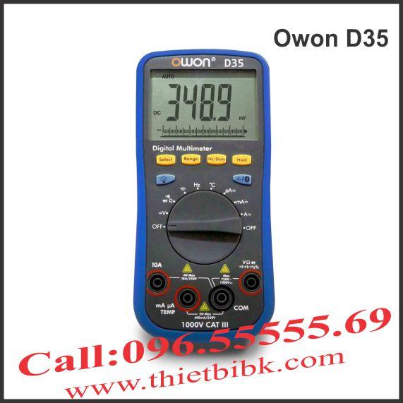 Đồng hồ vạn năng hiển thị số Owon D35 1000V 20A