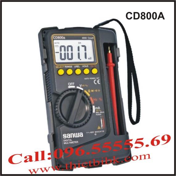 Đồng hồ vạn năng hiển thị số Sanwa CD800A