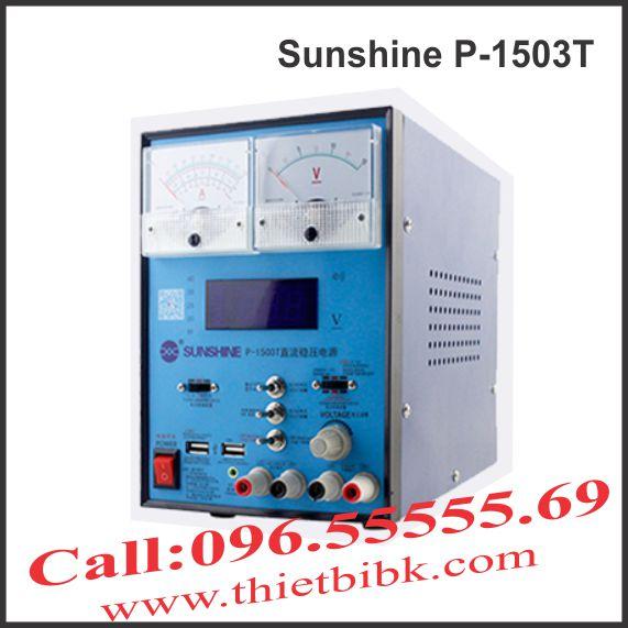 Máy cấp nguồn và báo sóng Sunshine P-1503T 3A