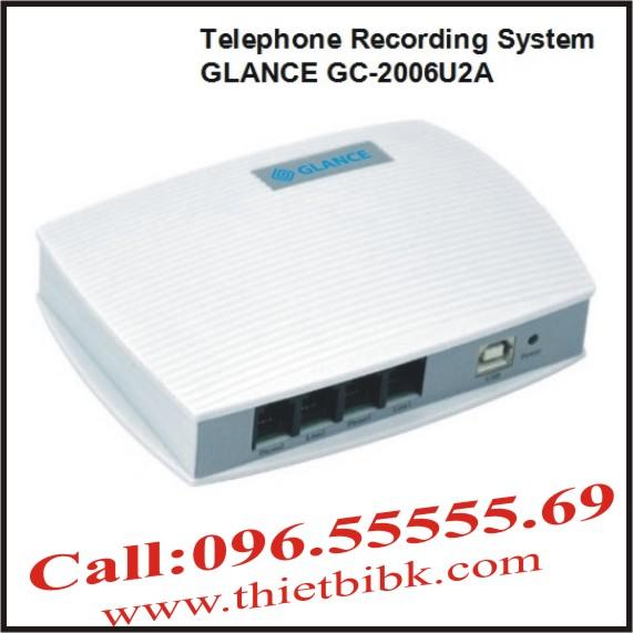 Máy ghi âm điện thoại 2 line GLANCE GC2006U2A USB