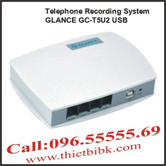 Máy ghi âm điện thoại 2 line GLANCE GCT5U2 USB
