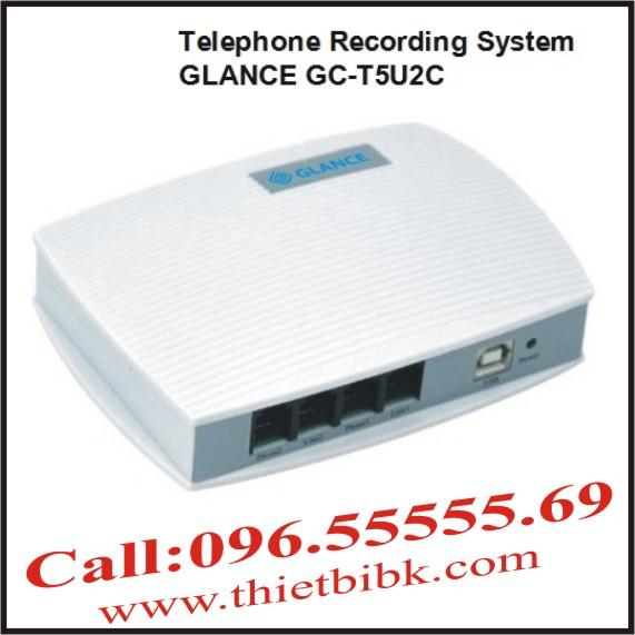 Máy ghi âm điện thoại 2 line GLANCE GCT5U2C USB