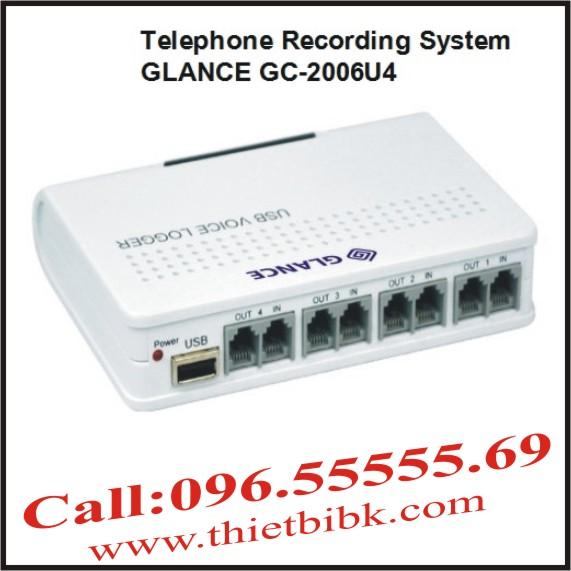 Máy ghi âm điện thoại 4 line GLANCE GC2006U4 USB