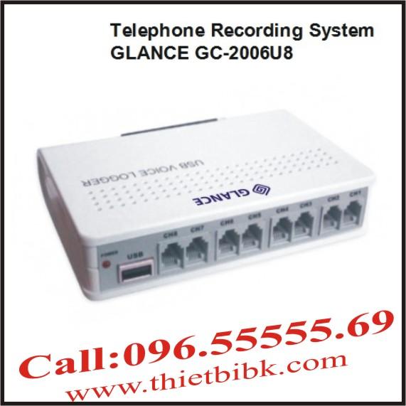 Máy ghi âm điện thoại 8 line GLANCE GC2006U8 USB