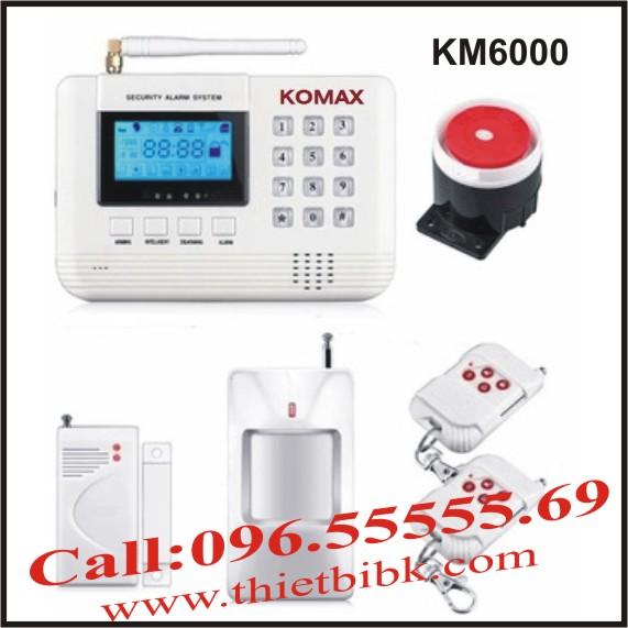 Thiết bị báo động chống trộm dùng sim KOMAX KM6000