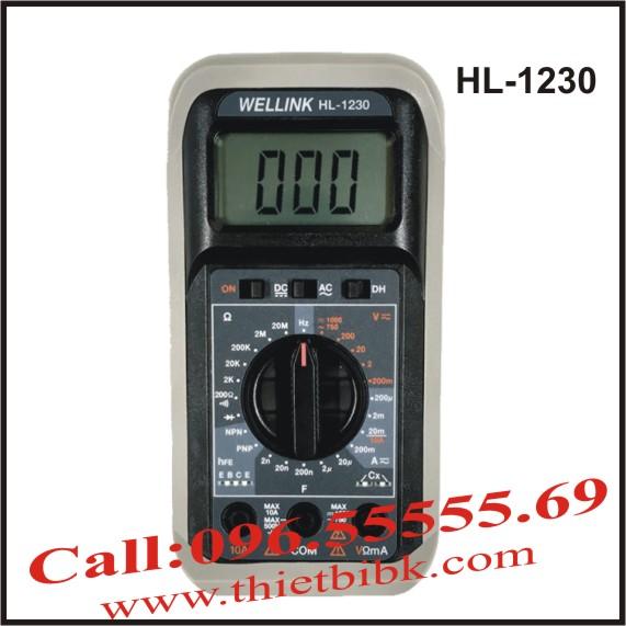 Đồng hồ vạn năng hiển thị số Wellink HL-1230