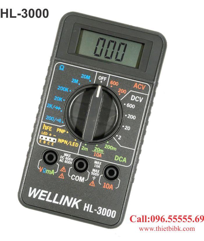 Đồng hồ vạn năng hiển thị số Wellink HL-3000 dùng cho kỹ thuật viên điện tử