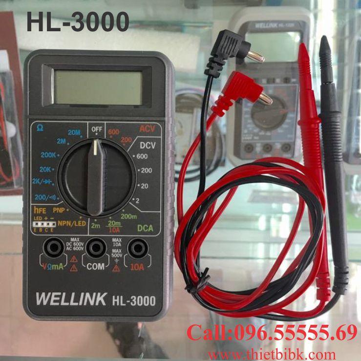 Đồng hồ vạn năng hiển thị số Wellink HL-3000 dùng cho thợ sửa chữa điện tử