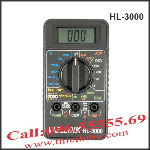 Đồng hồ vạn năng hiển thị số Wellink HL-3000
