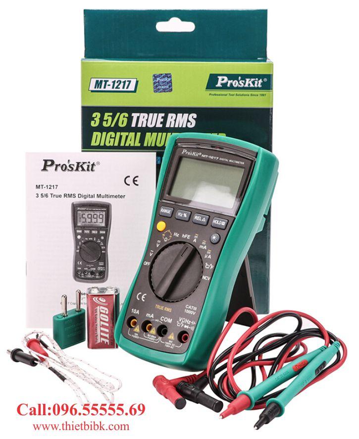 Đồng hồ vạn năng hiển thị số Pro'kit MT-1217 dành cho thợ sửa chữa điện thoại