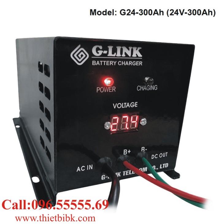 Bộ nạp ắc quy tự động G-LINK G24-300Ah dùng sạc ắc quy xe khách