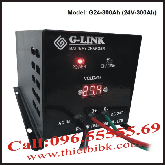 Bộ nạp ắc quy tự động G-LINK G24-300Ah
