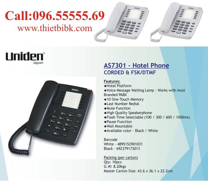 Điện thoại để bàn Uniden AS7301 dùng cho khách sạn