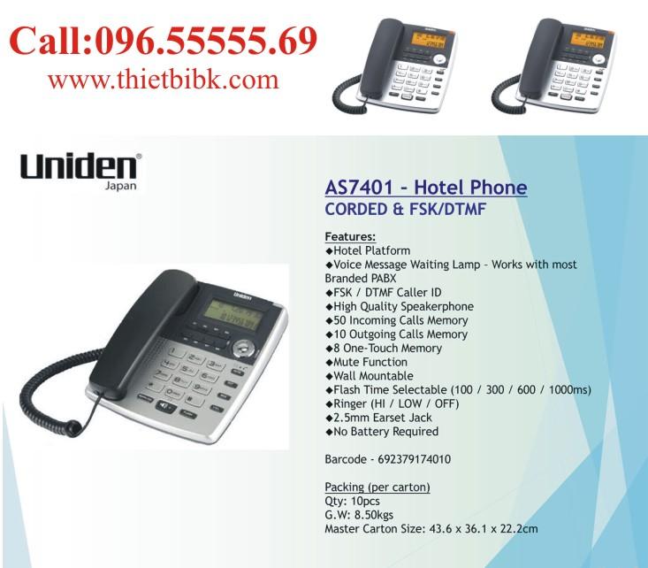 Điện thoại để bàn Uniden AS7401 dùng cho công ty