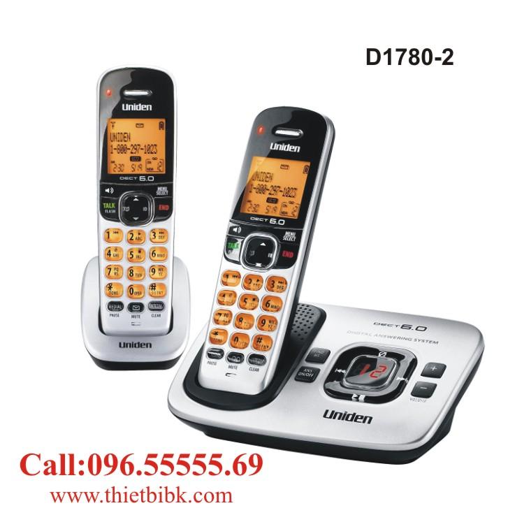 Điện thoại không dây UNIDEN D1780-2 dùng cho văn phòng công ty